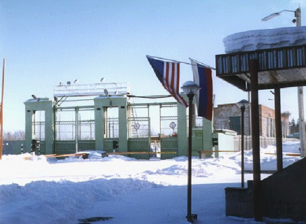 Photograph of the American inspection station in Votkinsk by Otto Stokes